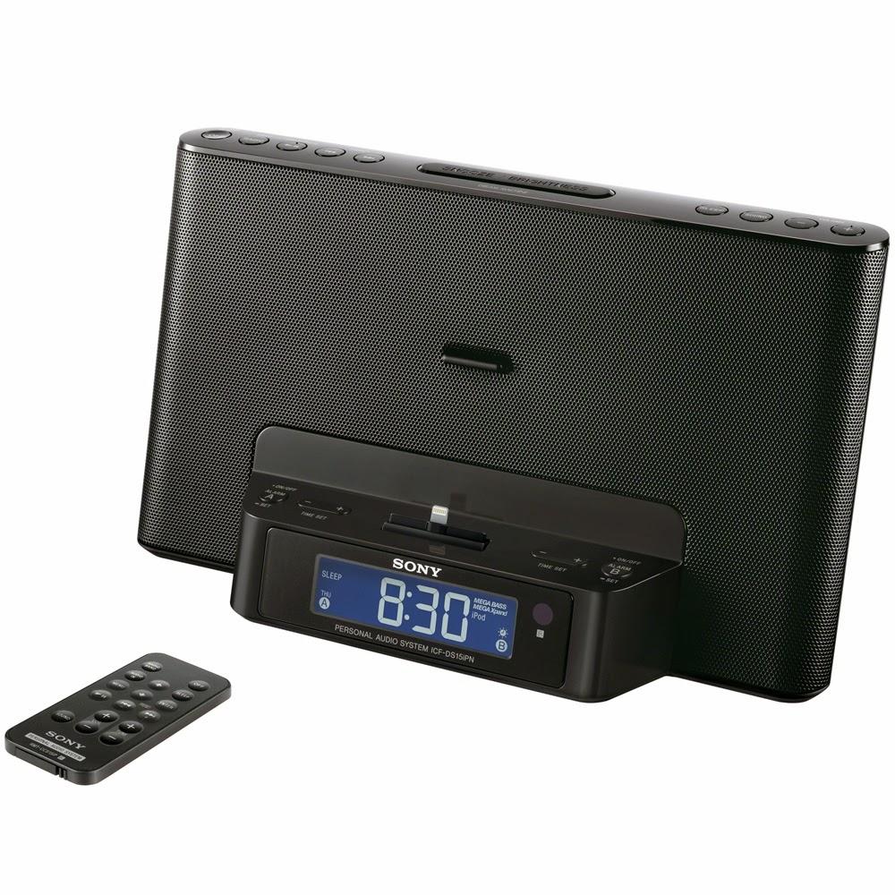 sony am fm radio speaker charging docking station iphone 6. Black Bedroom Furniture Sets. Home Design Ideas