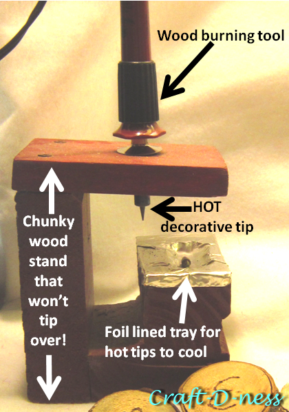 Homemade Wood Burning Tool Stand for Safety