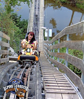 Ride single or double on the coaster in the Smokies