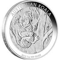 Koala nova srebrna 2013 Perth Mint kovnica