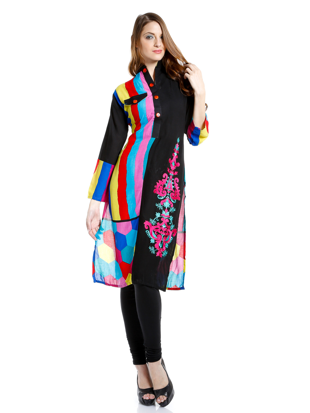 Ladies kurta neck design images style neck designs for Shirt styles for ladies