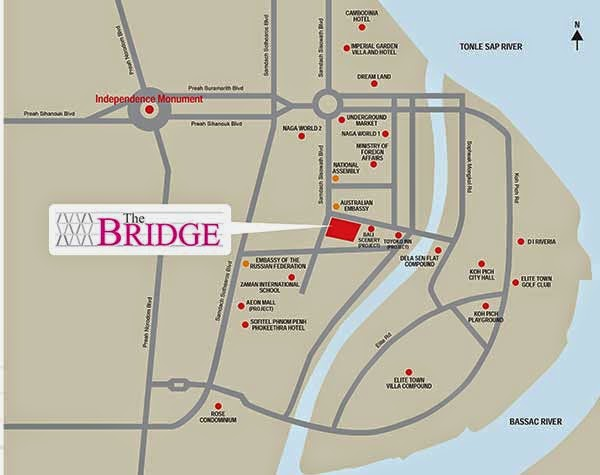 The Bridge @ Cambodia Location Map