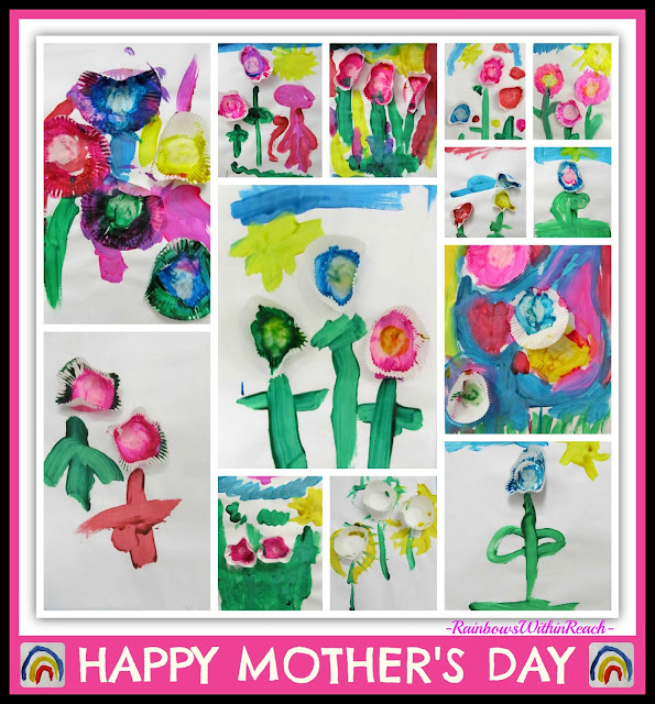 photo of: Mother's Day Art Project for Children (Flowers Painted with Muffin Liners) via RainbowsWithinReach