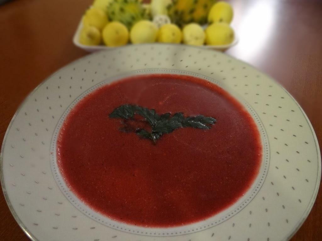 Kremowa zupa z buraków