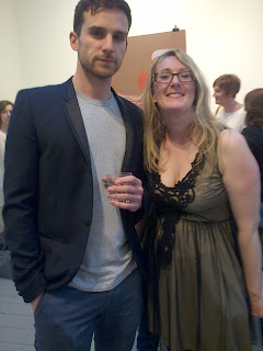 Helen A and Guy A Guy Berryman at Magne Furuholmen's Norwegian Wood exhibition