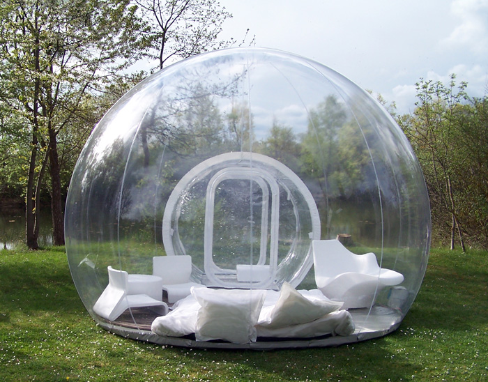 cristal bubble hut