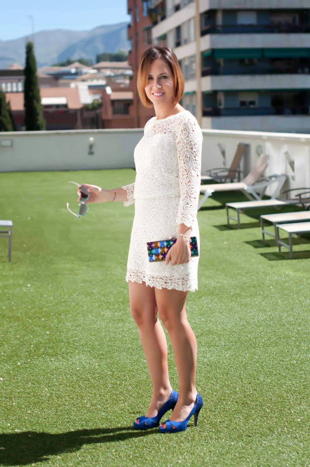 Accesorios para vestido blanco de encaje