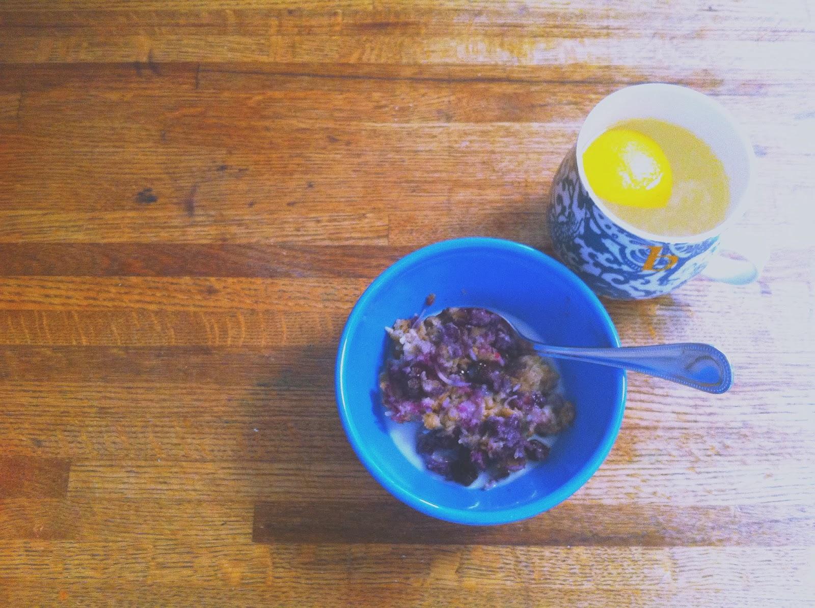 Bringing Up Burns: Baked Blueberry Coconut Oatmeal