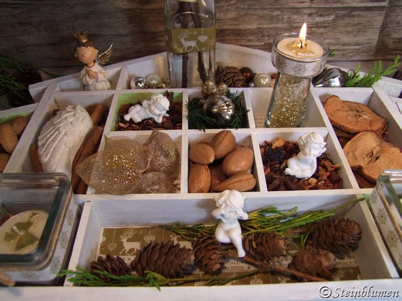 Setzkasten dekorieren im Advent