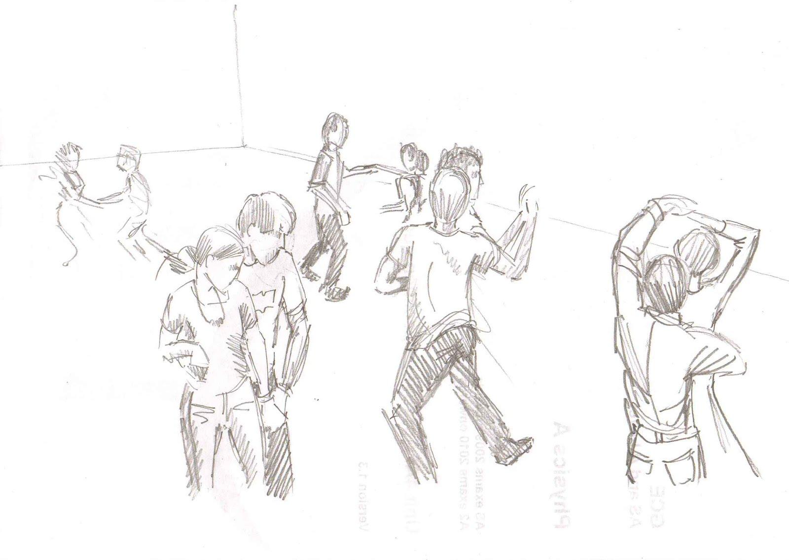 Strictly Dance Fun Modern Jive Pencil Sketch