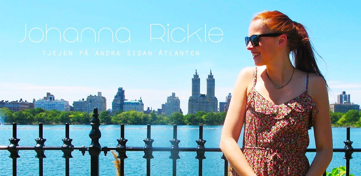 Johanna Rickle- tjejen på andra sidan Atlanten