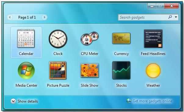 Desktop gadgets play vital role in decorating your desktop background