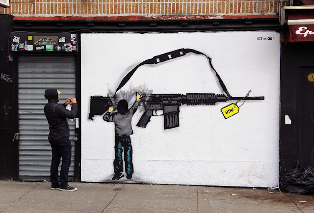 New Stencil Piece By Iranian Duo Icy & Sot In The Lower East Side Of New York City. 1