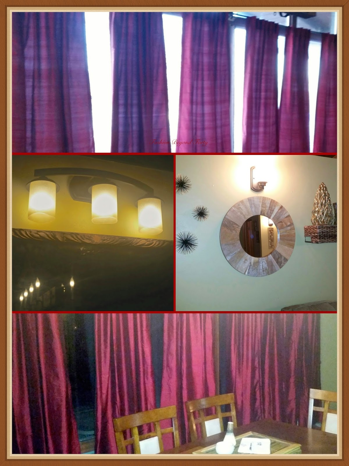 Interior Decor on a budget curtains, lighting, and wall decor