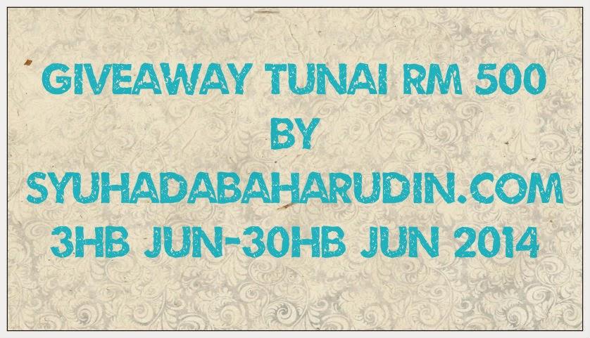 Giveaway Tunai RM500 by SyuhadaBaharudin.com, Giveaway Tunai RM500, SyuhadaBaharudin.com, Giveaway Tunai, Syuhada Baharudin, Blog Syuhada