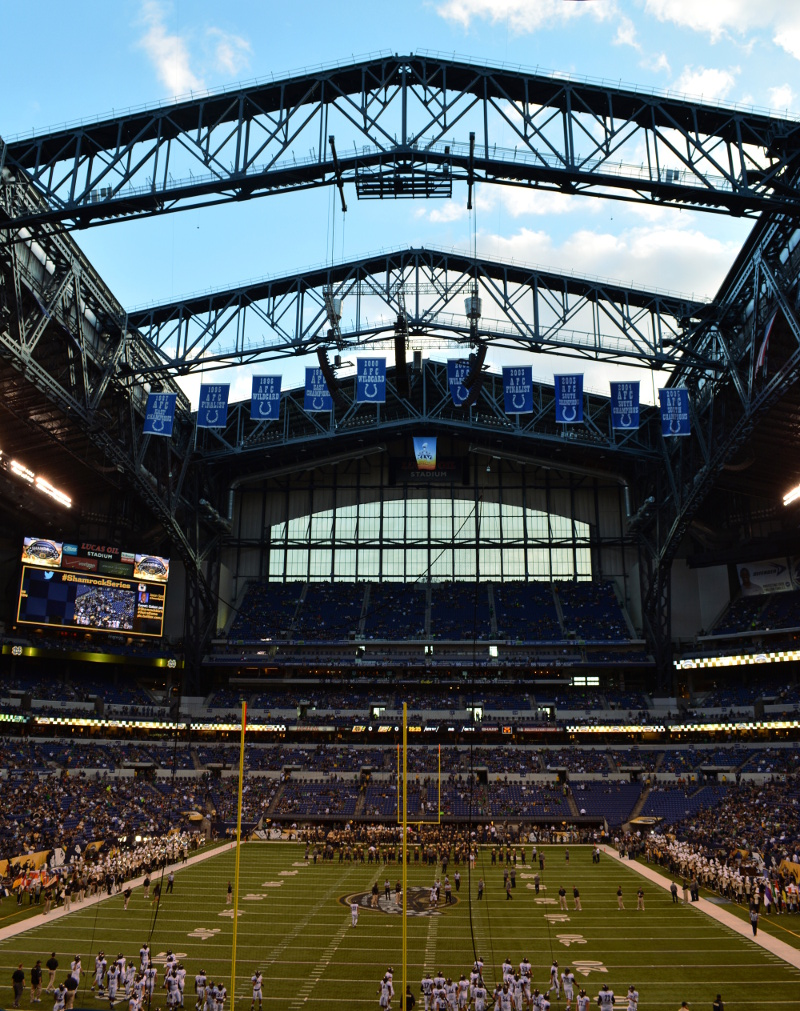 cozy birdhouse | lucas oil stadium for the notre dame vs. purdue game