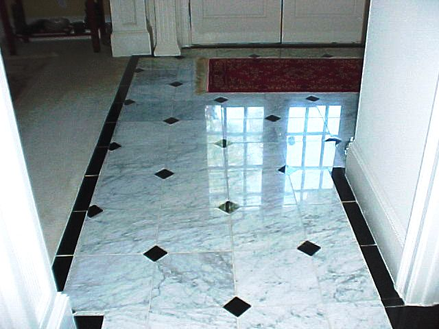 Tiled floor designs