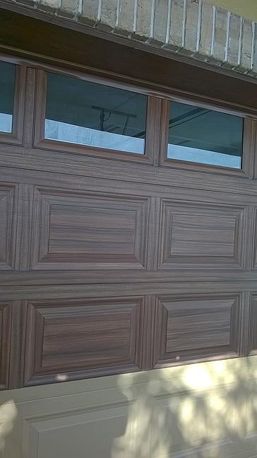 Make a garage door look like wood everything i create for Garage doors that look like wood