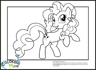 mlp pinkie pie smiling coloring pages