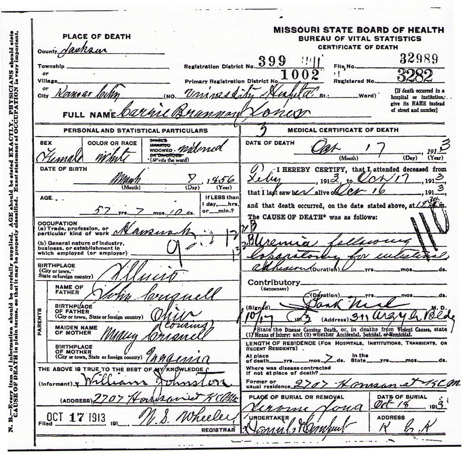 The jerome journal february 2013 missouri death certificate for 1betcityfo Gallery