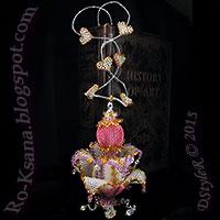 """Beaded interior decor pendant """"Crystal Feelings"""" Peyote Herringbone Ndebele beading Ндебеле бисероплетение Подвеска кулон"""
