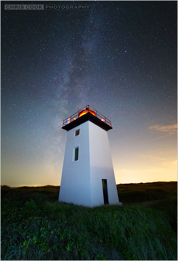 Cape Cod wedding blog photo from Chris Cook Photography about Night at Wood End Lighthouse