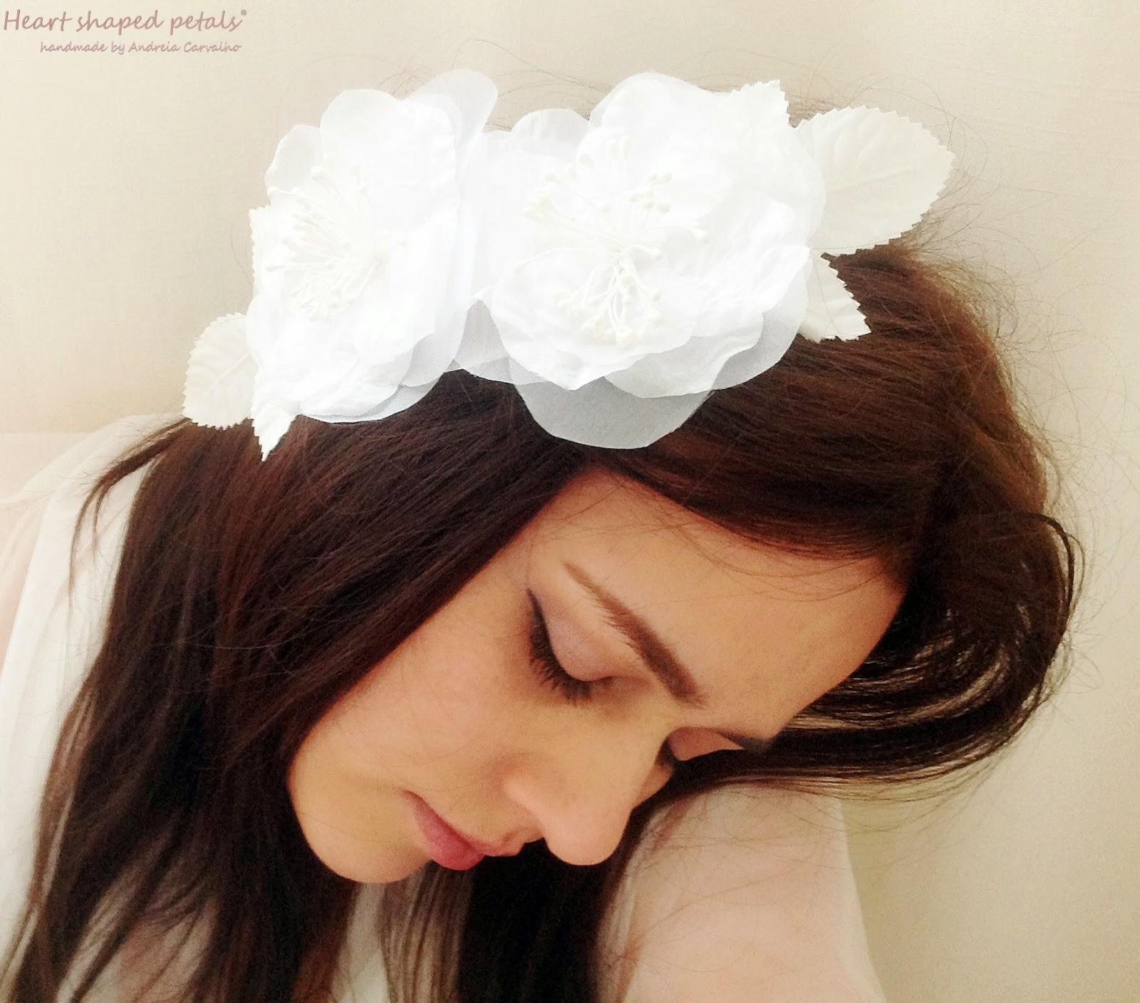 Bridal hair flower comb