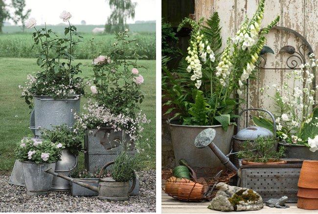 Arredare vintage gli oggetti in zinco home shabby home for Oggetti per giardino
