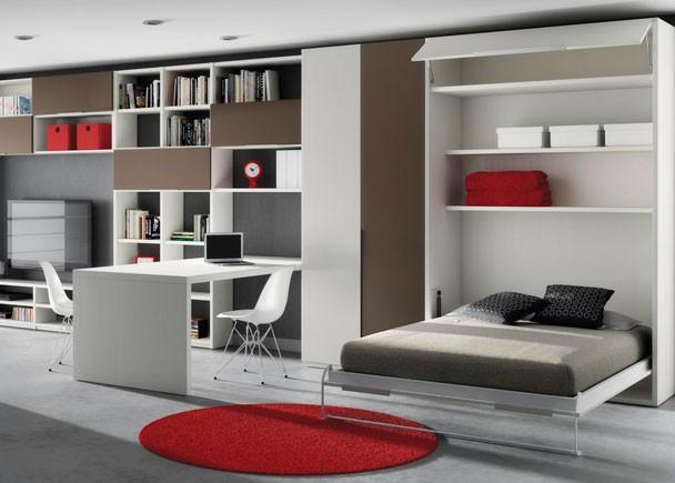 Dormitorios juveniles en colores arena for Cama oficina