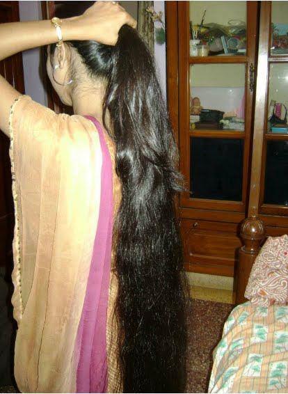 long hair combing