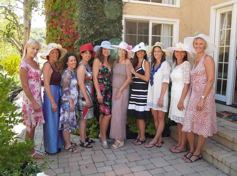 Everyone had a blast making their hats between sessions of croquet and tea  time with petit-fours. Take a look at all the creative hats they made! 29c7254930a