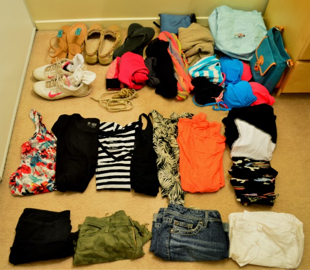 Packing list for Central America