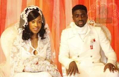 Kolo Touré with sexy, Wife Awo Touré