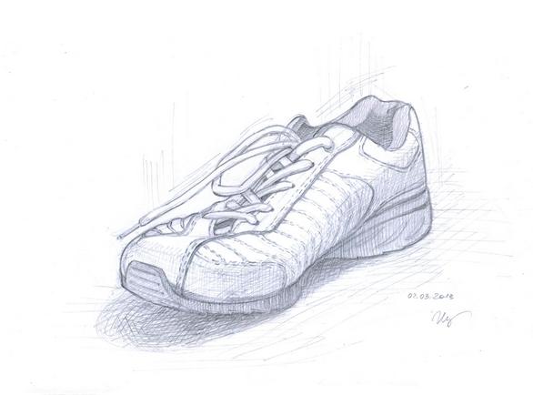 рисунок кроссовка