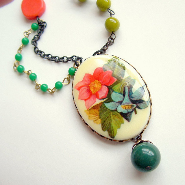 Featured Artist. Nathalie Lozier of Eco Retro Bling on Etsy