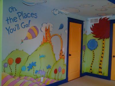 Meme Hill Studio Dr Seuss Mural Quot Oh The Places You Ll Go Quot