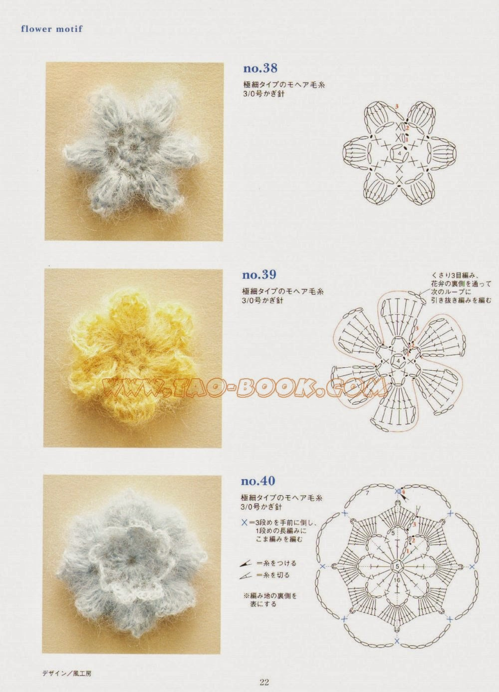 Вязание крючком фрагментами цветы