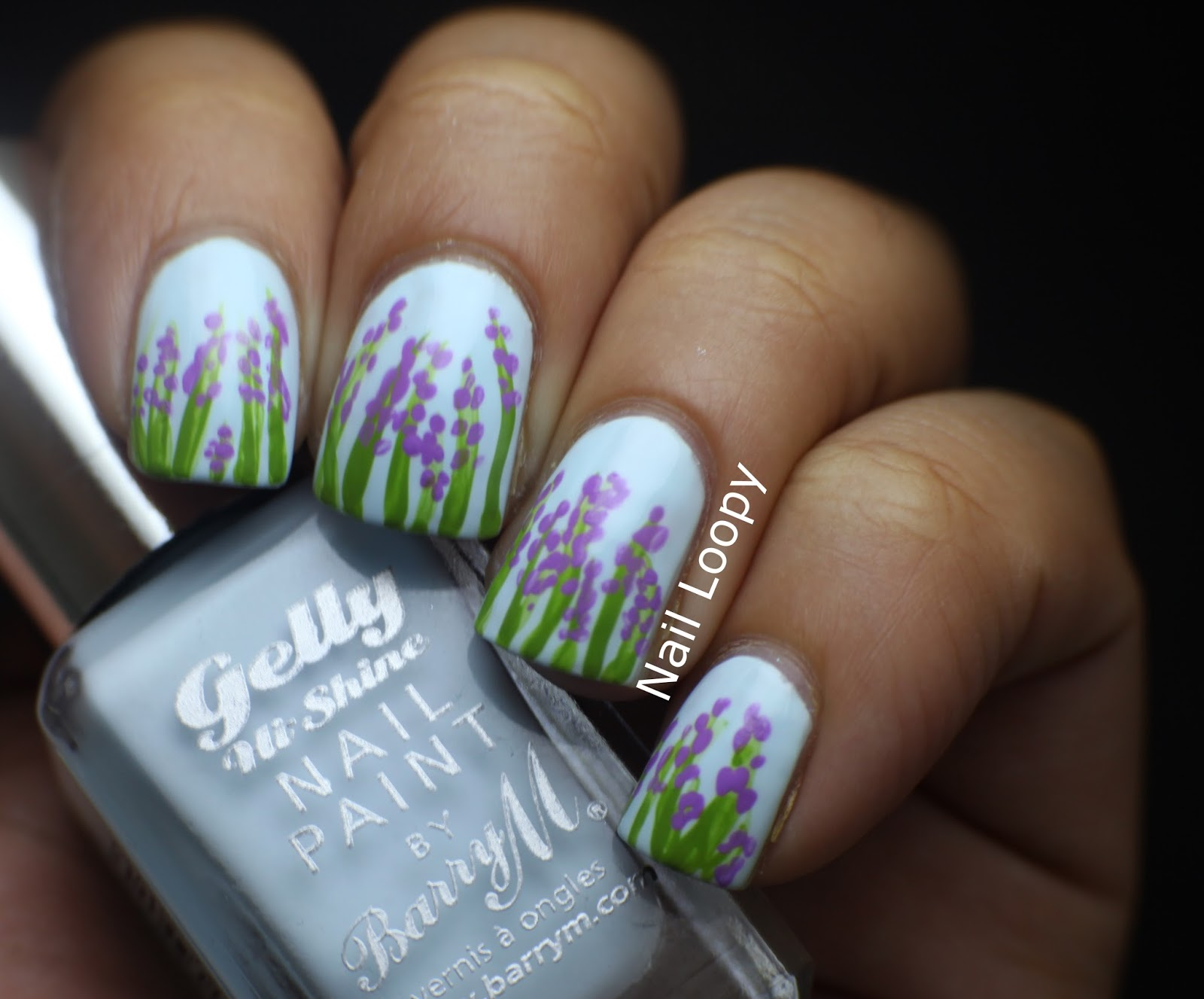 nail loopy: LAVENDER NAIL ART & TUTORIAL