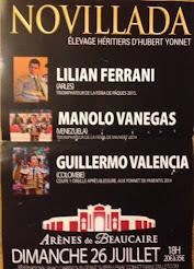 Manolo Vanegas anunciado en Beaucaire, el 26/07.