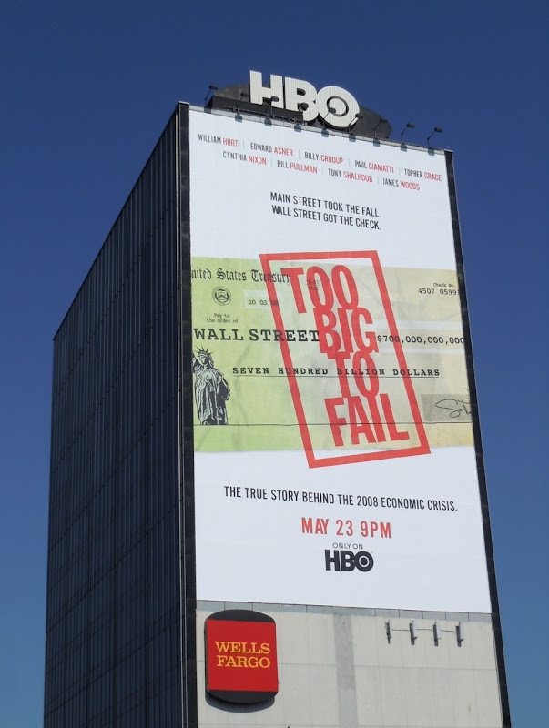 Too Big To Fail HBO billboard