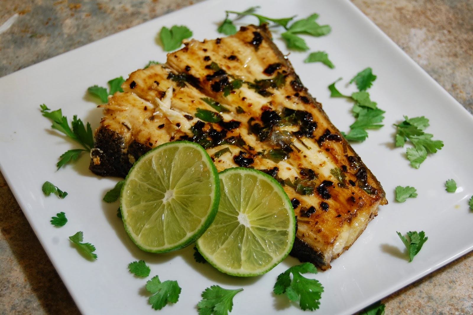 Bass marinated in lime juice