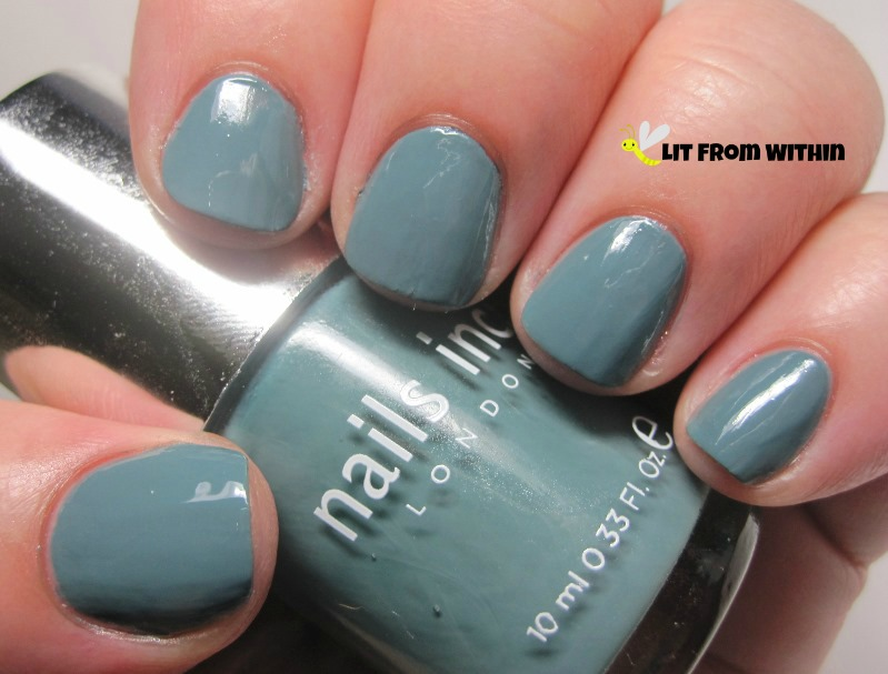 Nails Inc Green Park, a dusty greyed-green