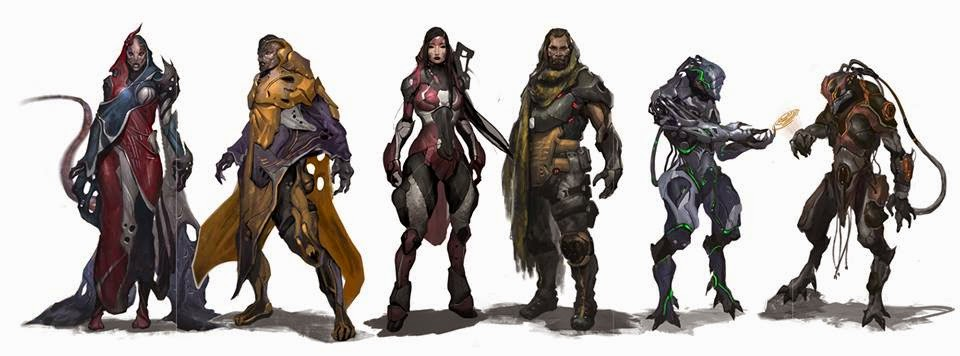FAITH: The Sci-fi RPG characters