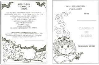 Capa - Caderno de leitura