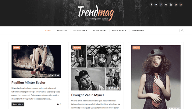 Trendmag - Clean & Responsive Blogger Template