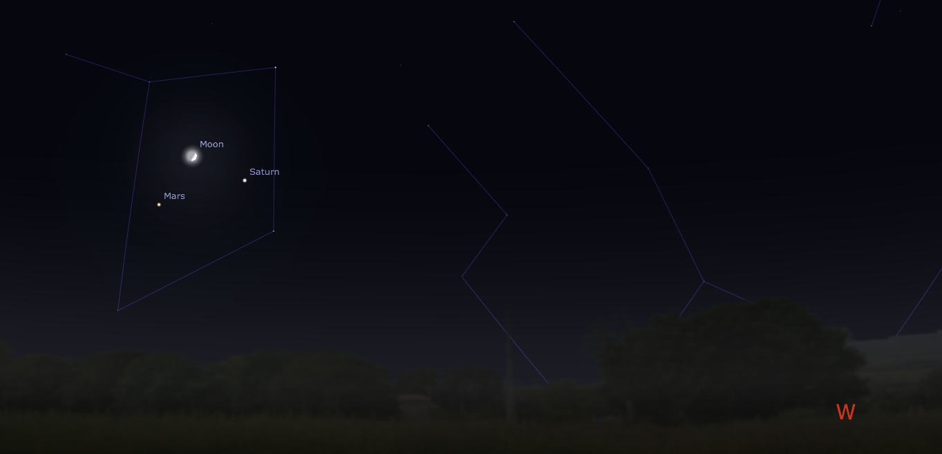 august 31 mars moon saturn conjunction