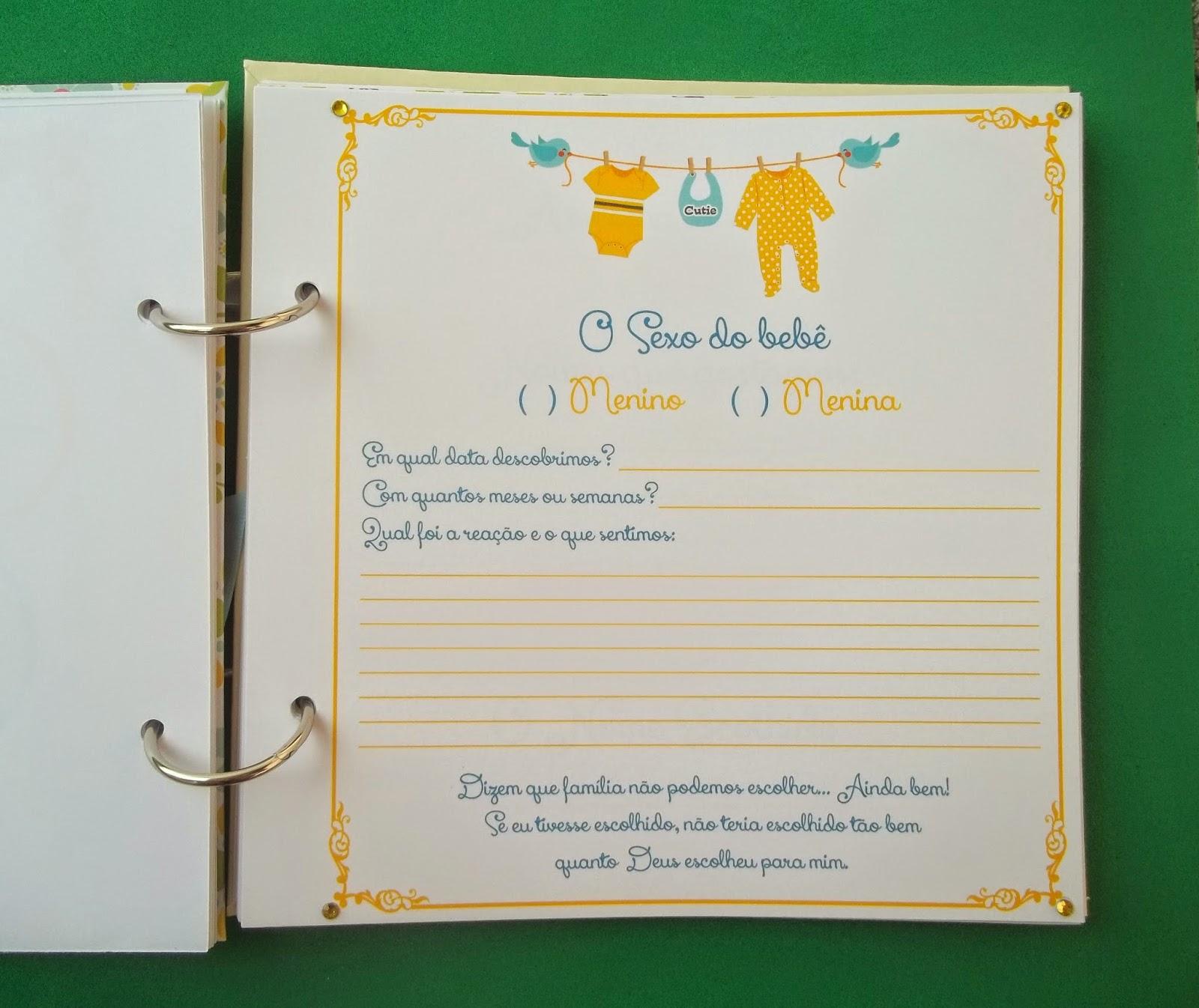 Diário da Gestante, Amarelo, Verde água, Floral