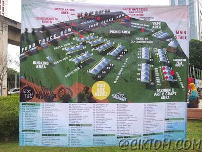 Peta lokasi gerai di #foodgasmfest