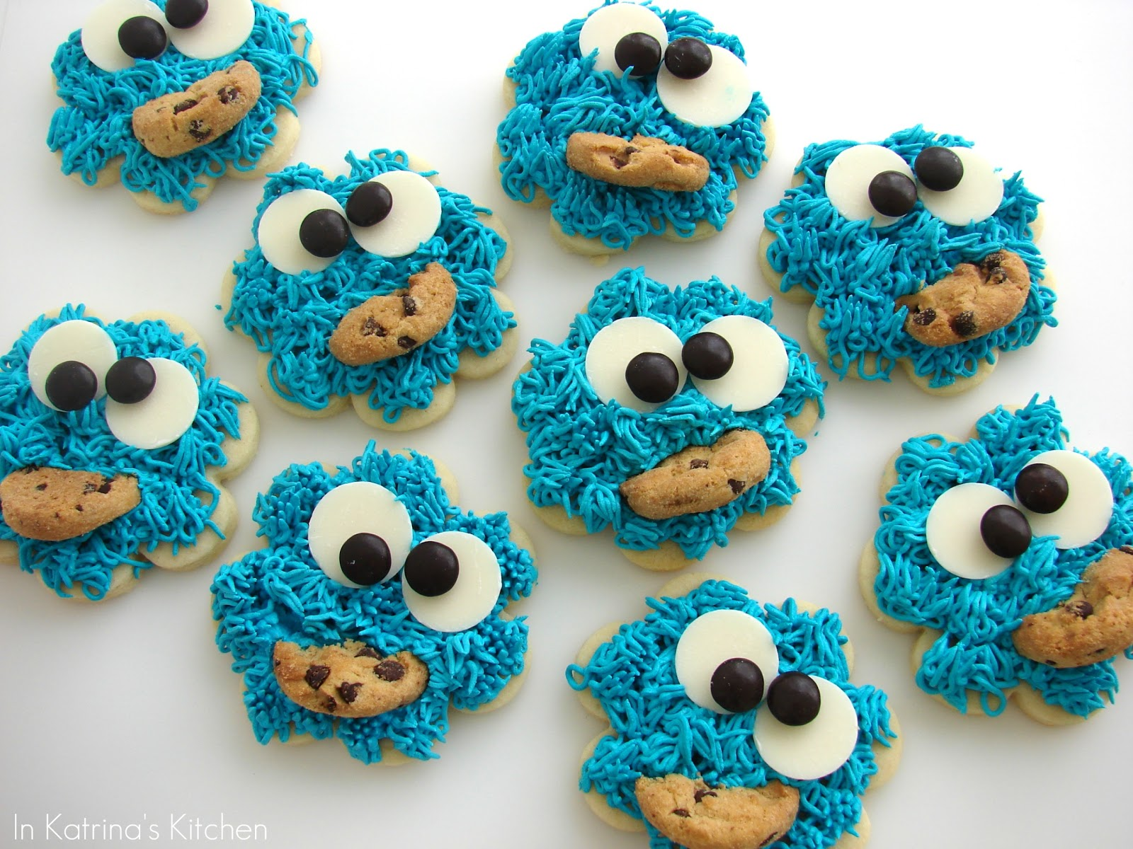 Cookie Monster Cookies Recipe and Tutorial | In Katrina's ...