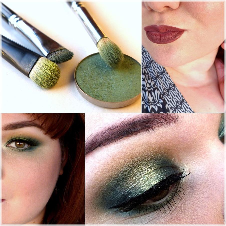grünes smokey eye